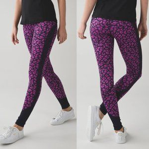 Lululemon Pink Leopard Luxtreme Mid Rise Drop It Like It's Hot Tights